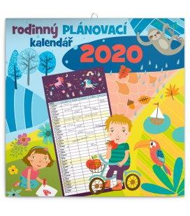 Wall calendar Family planner 2020
