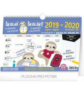 Table calendar Weekly school planner with hook 2020