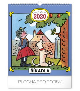Wall calendar Josef Lada – Spells  2020