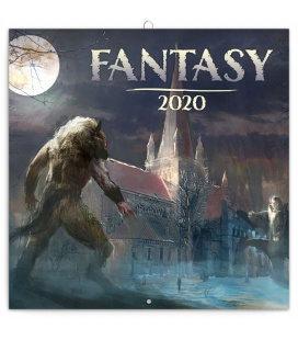 Wall calendar Fantasy 2020