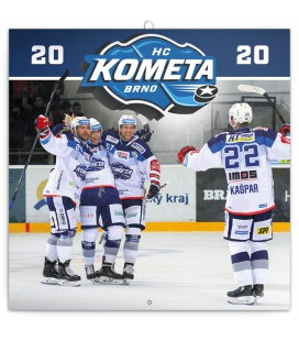 Wall calendar HC Kometa Brno 2020