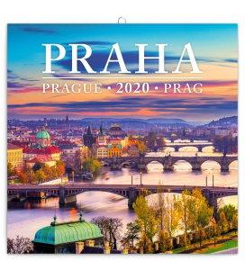 Wall calendar Prague mini 2020