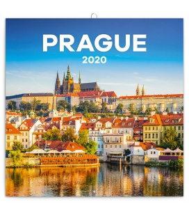 Wall calendar Prague summer 2020