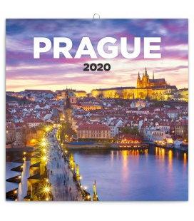 Wall calendar Prague nostalgic 2020