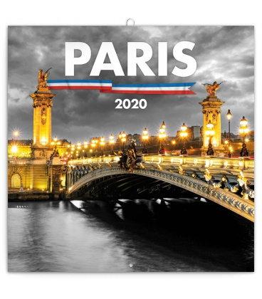 Wall calendar Paris 2020