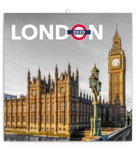 Wall calendar London 2020