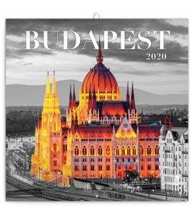 Wall calendar Budapest 2020