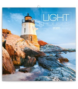 Wall calendar Lighthouses 2020