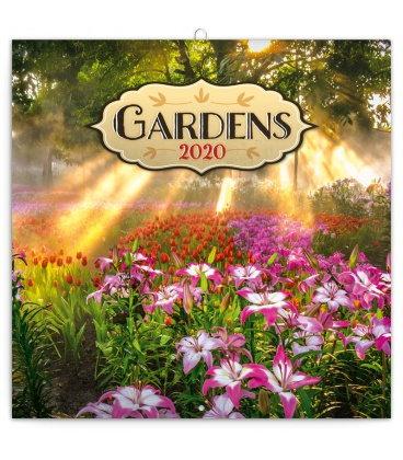 Wall calendar Gardens 2020