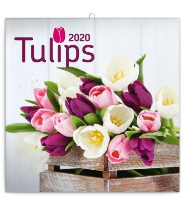 Wall calendar Tulips 2020