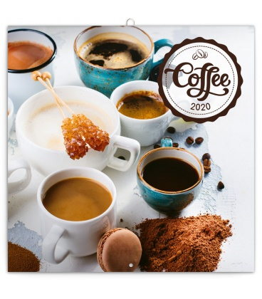 Wall calendar Coffee – scented 2020