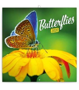 Wall calendar Butterflies 2020