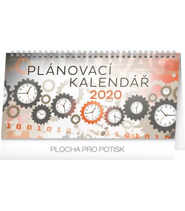 Table calendar Weekly planner 2020