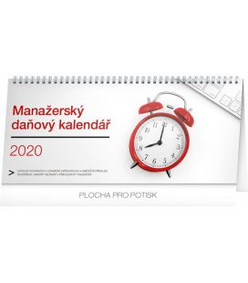 Table calendar Manager's weekly planner with taxes 2020