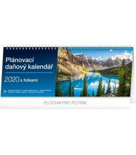 Table calendar Weekly planner with taxes photographic 2020