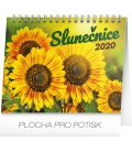 Table calendar Sunflower planner with quotes 2020