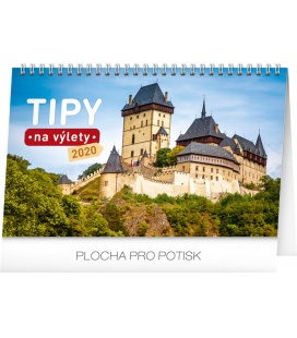 Table calendar Travel tips CZ 2020