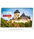 Table calendar Travel tips CZ 2020