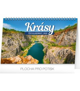Table calendar Czech and Moravian beauty 2020