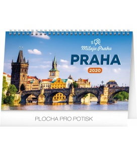 Table calendar I love Prague 2020