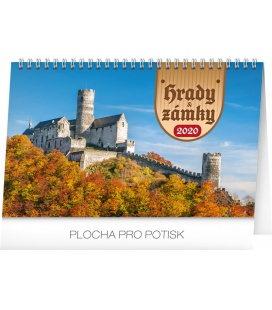 Table calendar Castles 2020