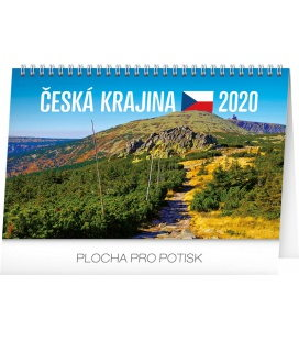 Table calendar Landscape of Czech Republic 2020