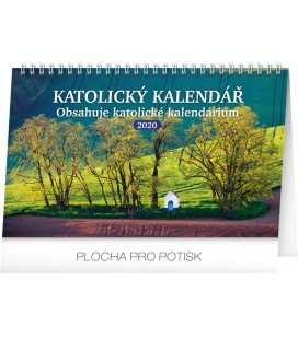 Table calendar Pilgrim destinations CZ 2020