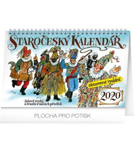 Table calendar Old Bohemian traditions 2020