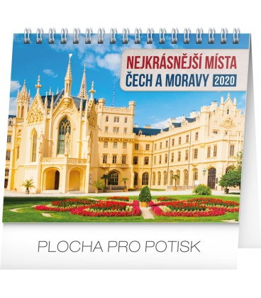 Table calendar Czech republic and Moravia 2020
