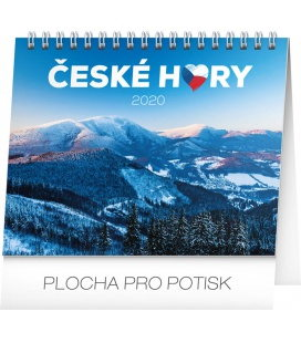 Table calendar Czech mountains 2020