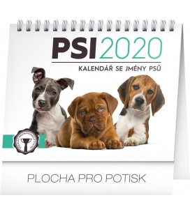 Table calendar Dogs – with dog names 2020