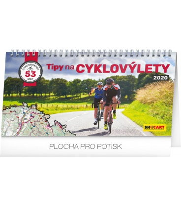 Table calendar Bike travel 2020