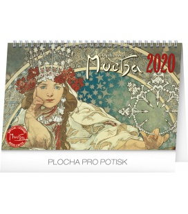 Table calendar Alphonse Mucha 2020
