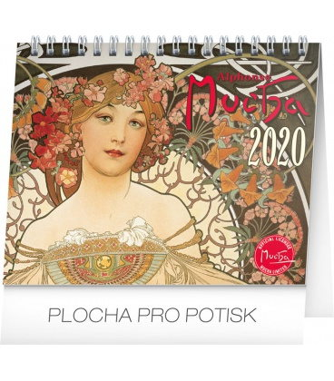 Table calendar Alphonse Mucha 2020
