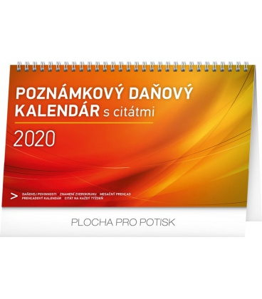 Table calendar Weekly planner with quotes SK 2020
