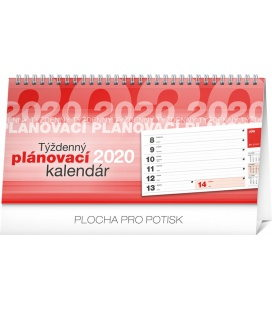 Table calendar Weekly planner SK lined 2020