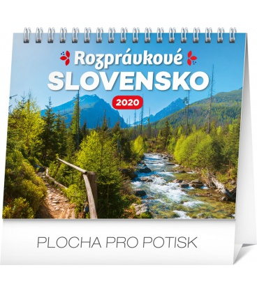 Table calendar Slovak scenic beauty 2020