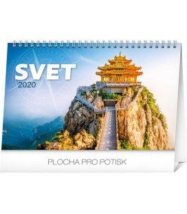 Table calendar The World SK 2020