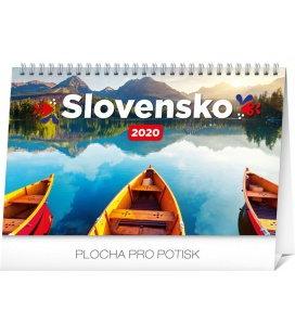 Table calendar Slovakia 2020