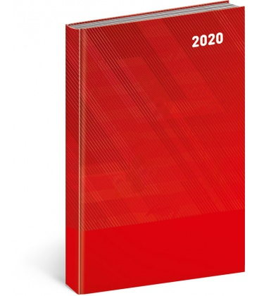 Daily diary A5 Cambio Classic red 2020