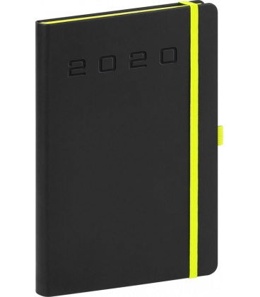 Daily diary A5 Nox black, green 2020