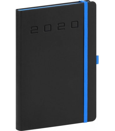 Daily diary A5 Nox black, blue 2020