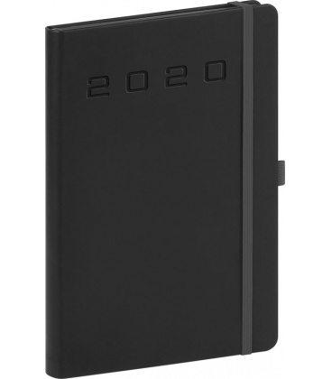 Daily diary A5 Nox black, black 2020