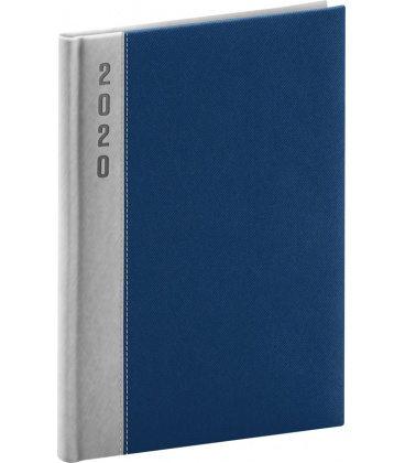 Daily diary A5 Dakar blue, silver 2020