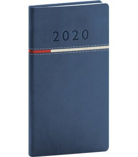 Weekly pocket diary Tomy blue 2020