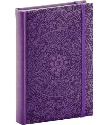 Daily diary A5 Vivella Special - purple - Mandala 2020