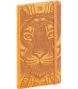 Weekly pocket diary Vivella Special - yellow - Tiger 2020