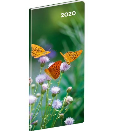 Monthly Pocket Diary planning Butterflies 2020