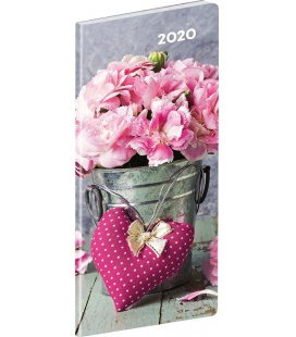 Monthly Pocket Diary planning Flowers SK 2020
