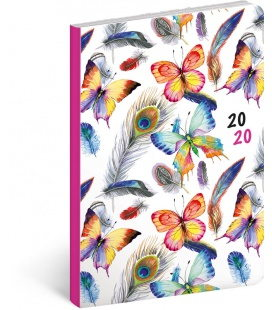 Weekly diary B6 ultralight Feathers 2020